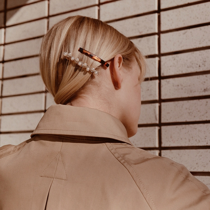 Barrettes and hair clips are the accessory trend of spring summer 2019.